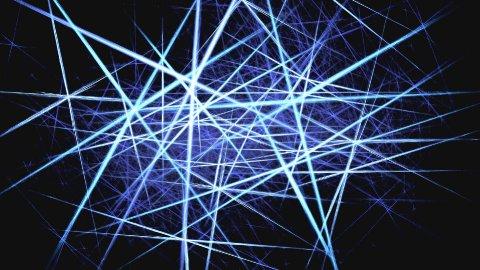 Laser dance blue