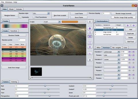 JWildfire V0.22 screenshot